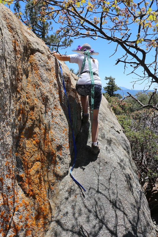 Slab climbing was required on the Hot Springs Mountain Summit Block