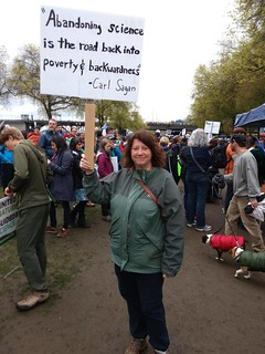 Representing Carl Sagan at the March for Science