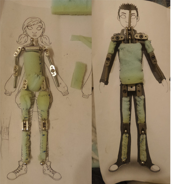 Puppet Making - Padding Armatures