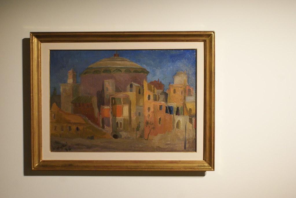"""Mario Mafai """"Demolizione dell'Augusteo"""" (1936). Palazzo Fava de Bologne"""
