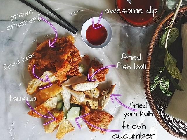 Street Eats: Melaka- Gor Hiong (5 spice)/ Prawn Crackers @ Jalan Tun Perak