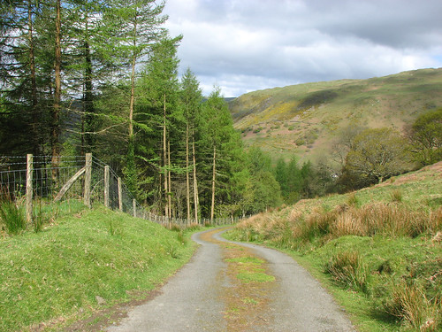 Track to the slate mine