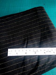 Lurex Stripe 100% Viscose Jersey - Black & Gold fabric