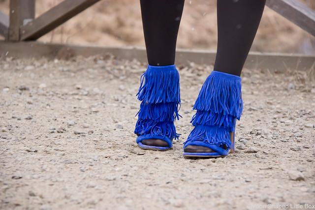 Mokkanahkatakki Mango sähkönsininen Esprit Kynähame Steve Madden Korkokengät Heels highheels shoes blog fashion style tyyli muoti blogi bloggaaja OOTD outfit
