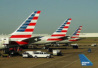 American Airlines tails DFW (RD)
