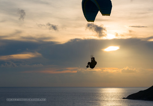 Parasailing at Phuket island. Sunset. Sea. | by Phuketian.S