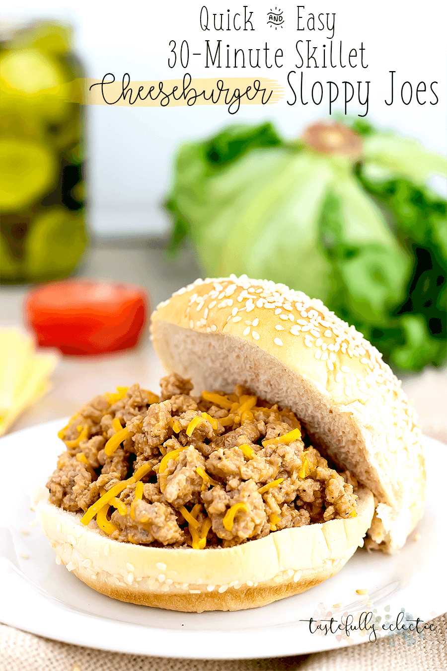 30-Minute Skillet Cheeseburger Sloppy Joes