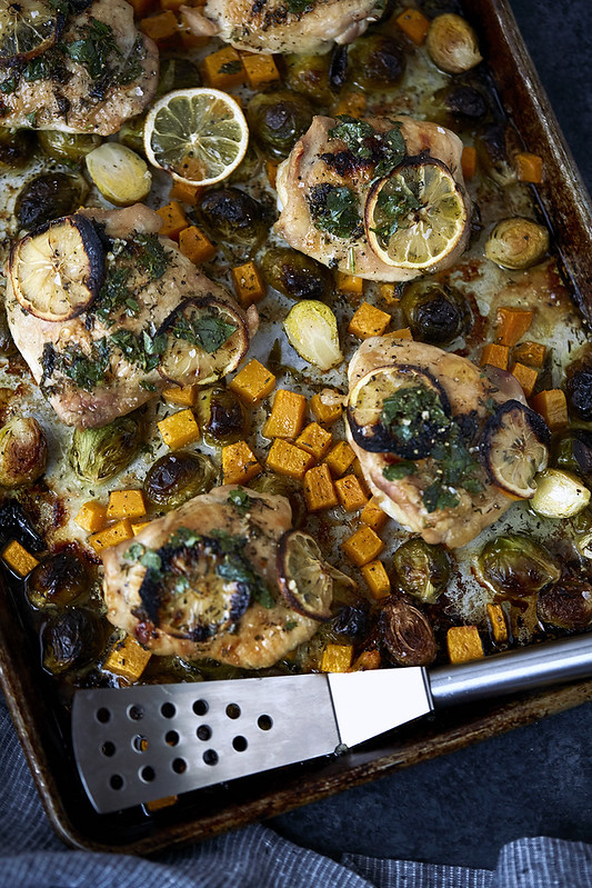 Sheet Pan Roast Chicken and Veggies {Gluten-Free, Paleo}