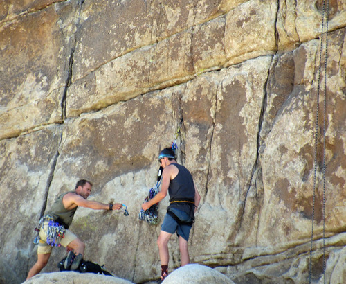 Rock Climbers in Wonder Valley (0325)