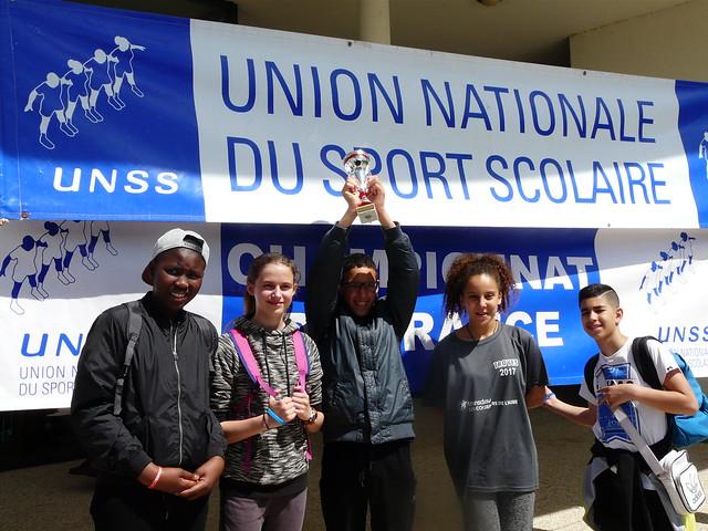Championnat de France de sport partagé multi-activités: une première pour l'A.S du collège Joliot Curie de Bron