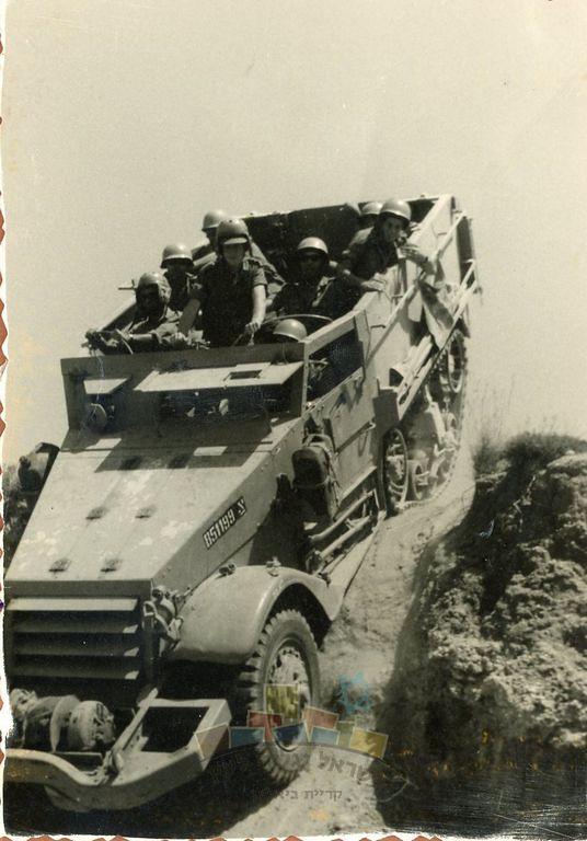 M3-halftrack-maneuvres-negev-1957-ybz-1