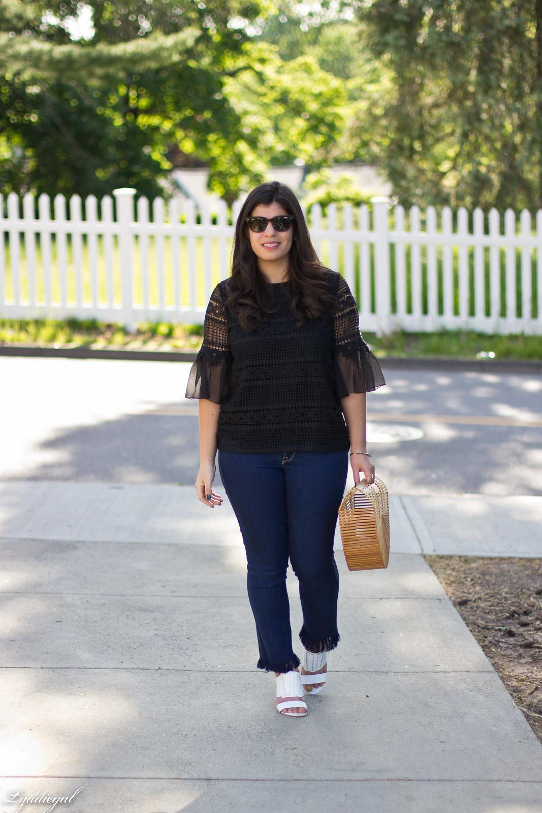 lace bell sleeve blouse, fringe hem jeans, bamboo bag-2.jpg
