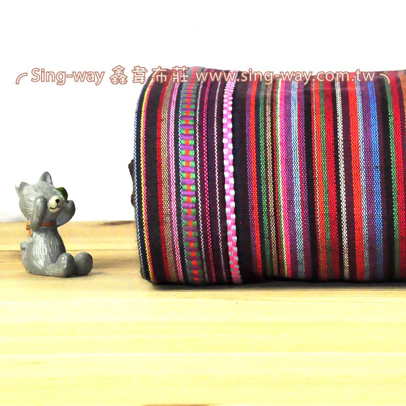 彩色民族風 原住民 雲南麗江民族 裝飾服裝布料 CE890064