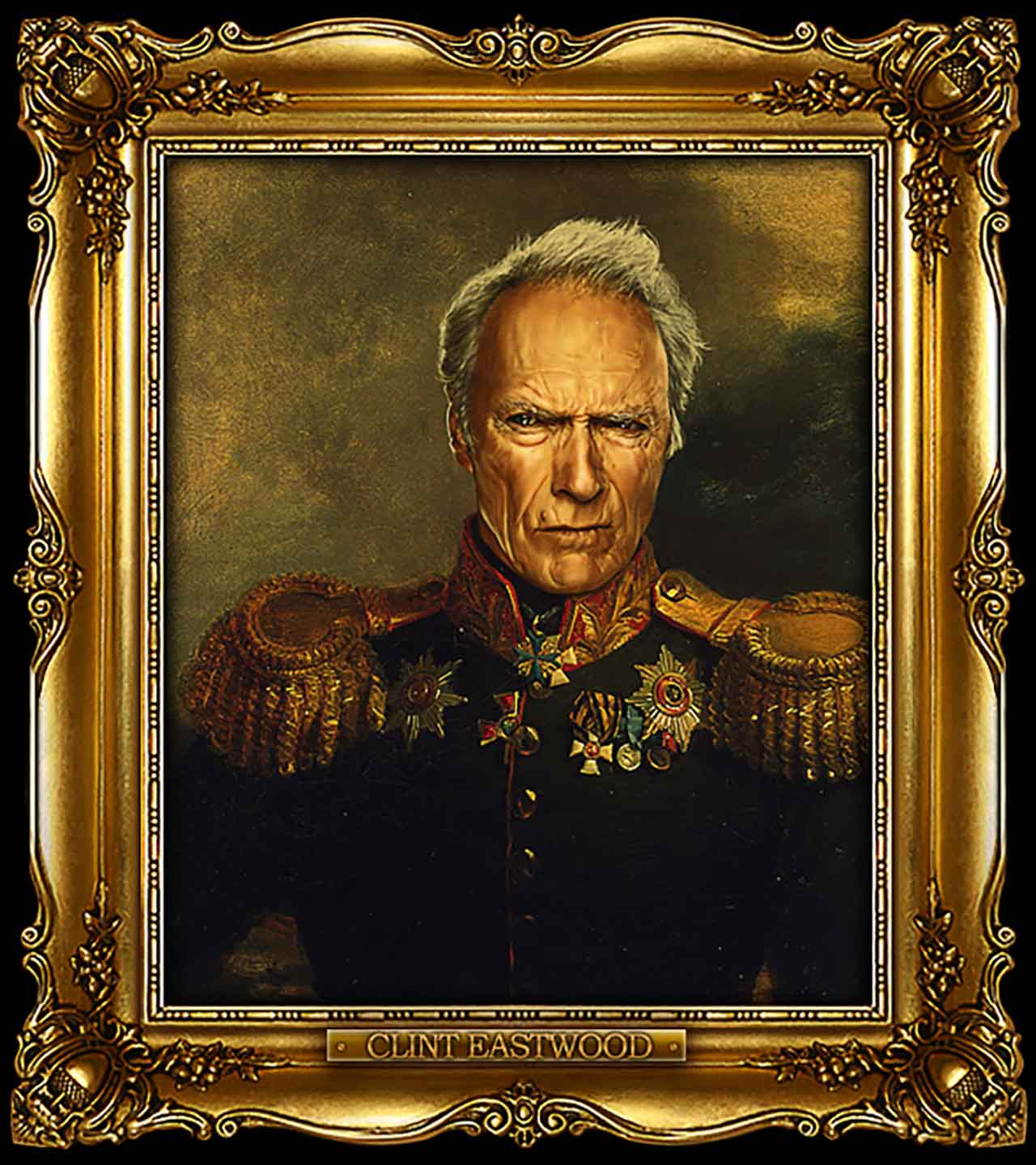 Artist Turns Famous Actors Into Russian Generals - Clint Eastwood