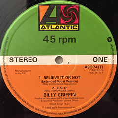 BILLY GRIFFIN:BELIEVE IT OR NOT(LABEL SIDE-A)