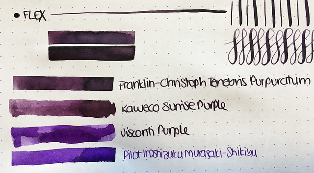 Ink Shot Review Franklin-Christoph Tenebris Purpuratum @1901FC 6