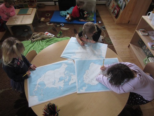 continent map tracing