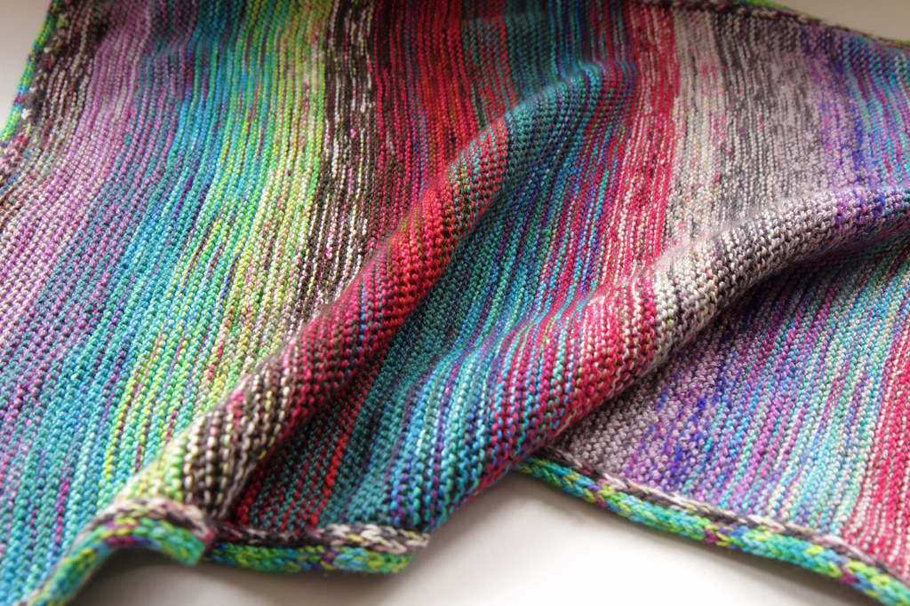 Marled garter baby blanket