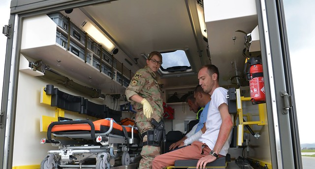 KFOR supported a mass casualties exercise at Pristina Airport