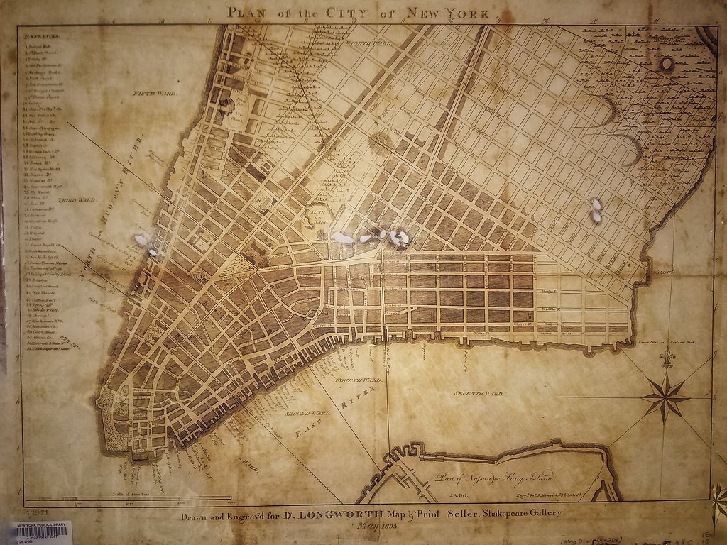 Map of lower Manhattan (1803)