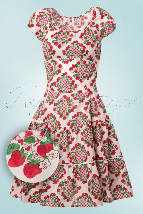 top vintage strawberry dress