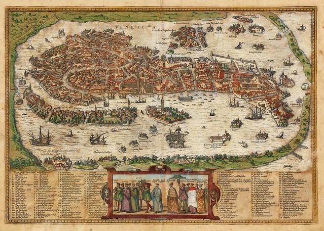 Georg Braun & Franz Hogenberg - Venetia (1572)