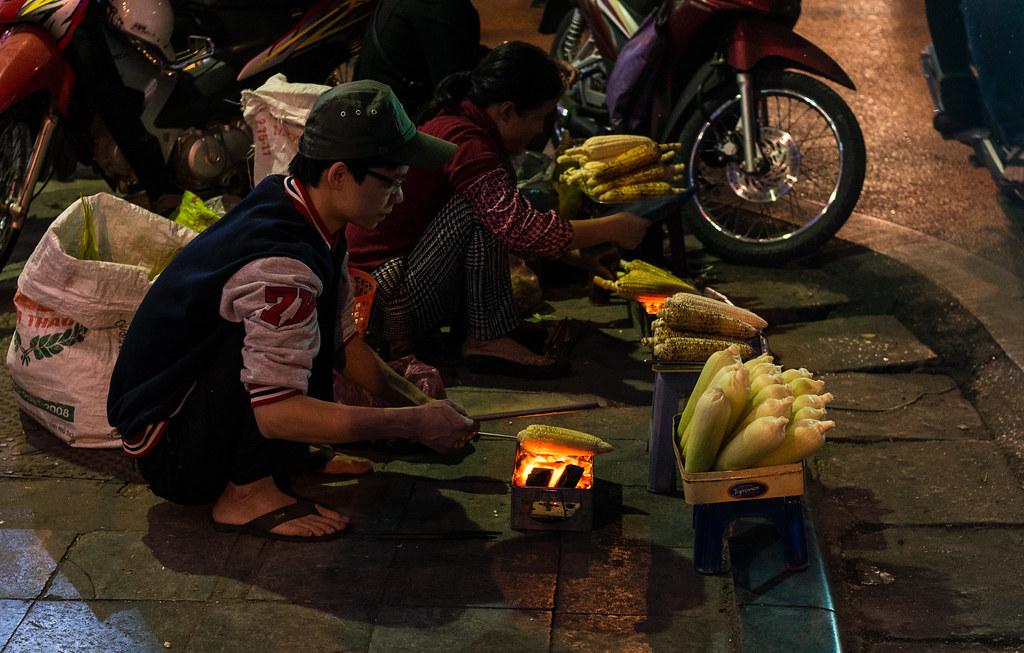 Straßenszene in Hanoi
