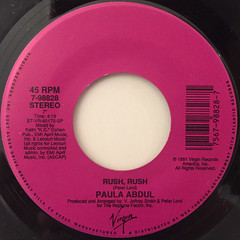PAULA ABDUL:RUSH RUSH(LABEL SIDE-A)