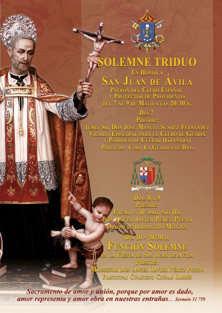 Cartel Triduo y Función san Juan de Ávila | Providentia