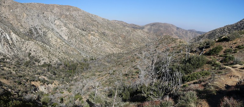 We crossed the ridge and prepared to descend into the side valley where PCT camp WRCS0235 is located