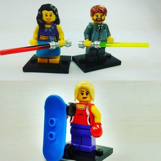 Friends with light sabers and boxers on skateboards, these are a few of my favourite things! #brickyourself #brickmandan #lego #makeyourselfinlego #legoboxer #myfavouritethings | by BrickManDan