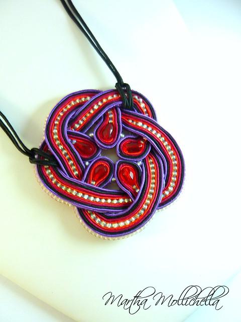 soutache pendant handmade in Italy by www.marthamollichella.com