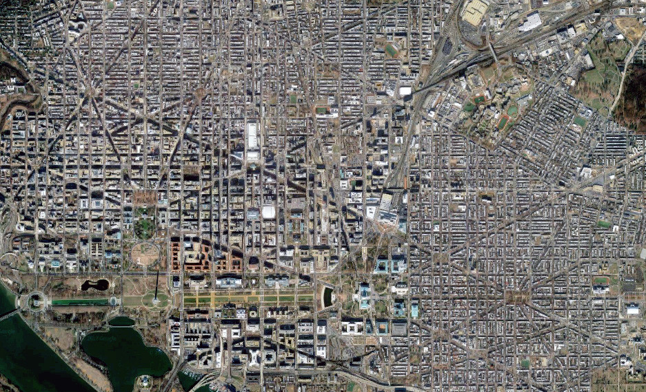 DC Satellite View From Google Maps Google Maps Image Via W Flickr - Google map via satellite
