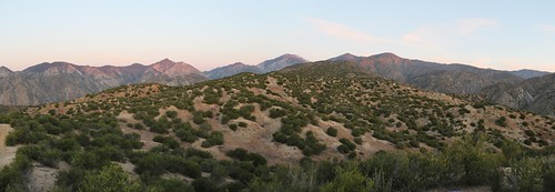1118 Panorama view north as the sun rises on the nearby peaks from the PCT | by _JFR_