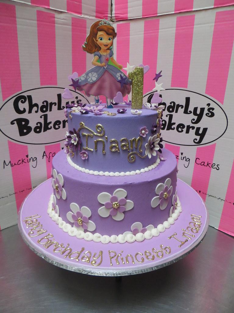 2 Tier Princess Sofia The 1st Themed 1st Birthday Cake Ice Flickr