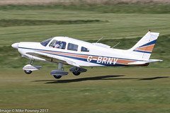 G-BRNV - 1977 build Piper PA-28-181 Cherokee Archer II, departing from Runway 26R at Barton