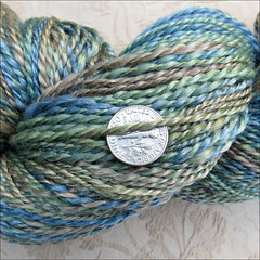 Puget Sound handspun, close up