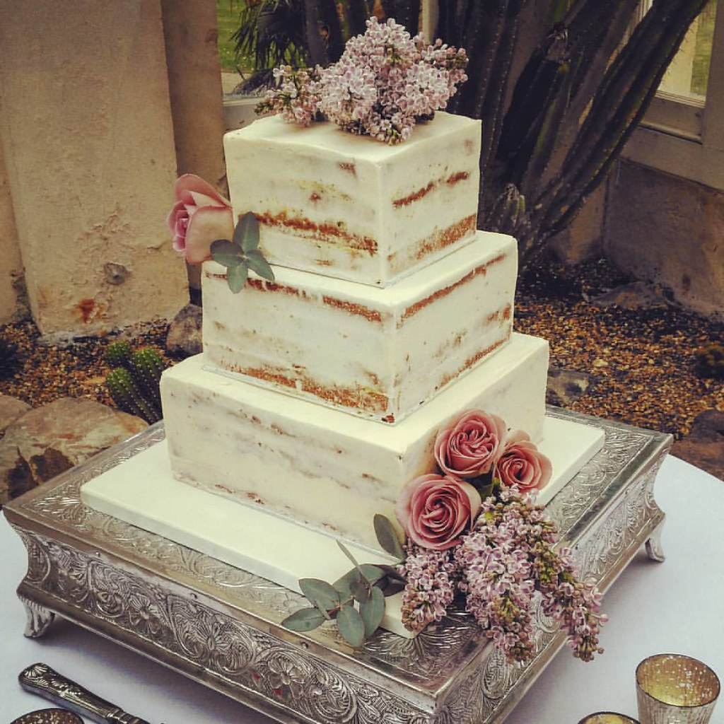Square Wedding Cake In And  In