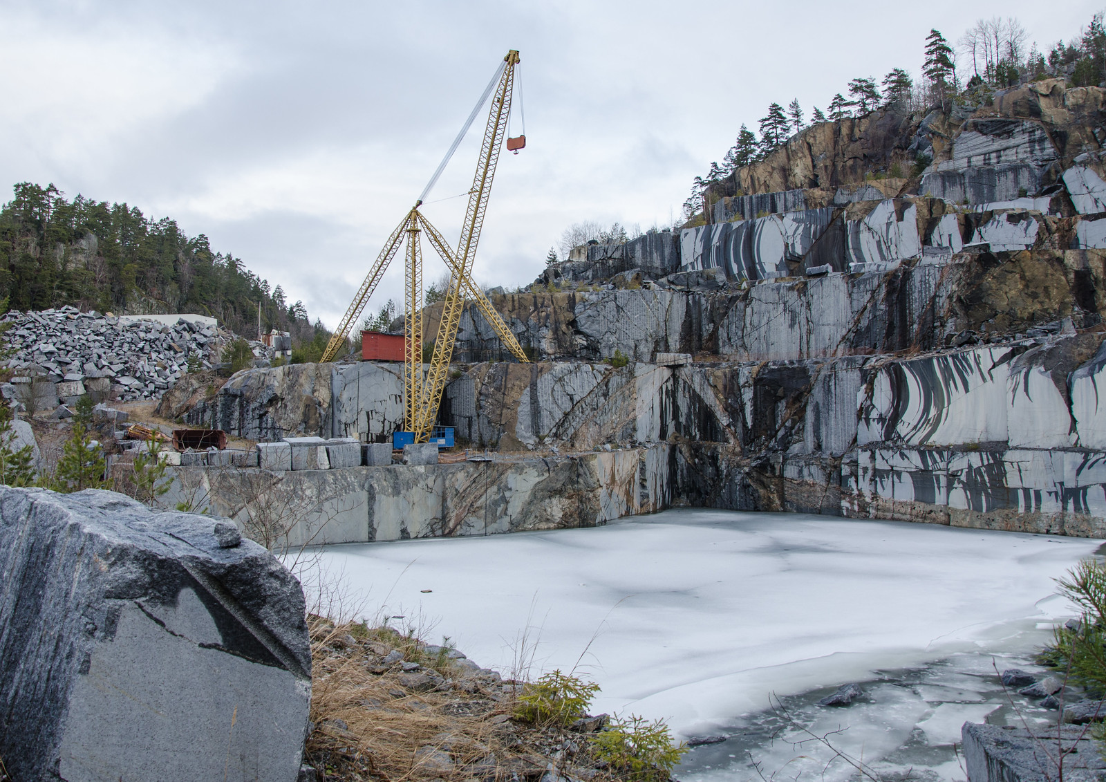 Quarry with pool | by AstridWestvang