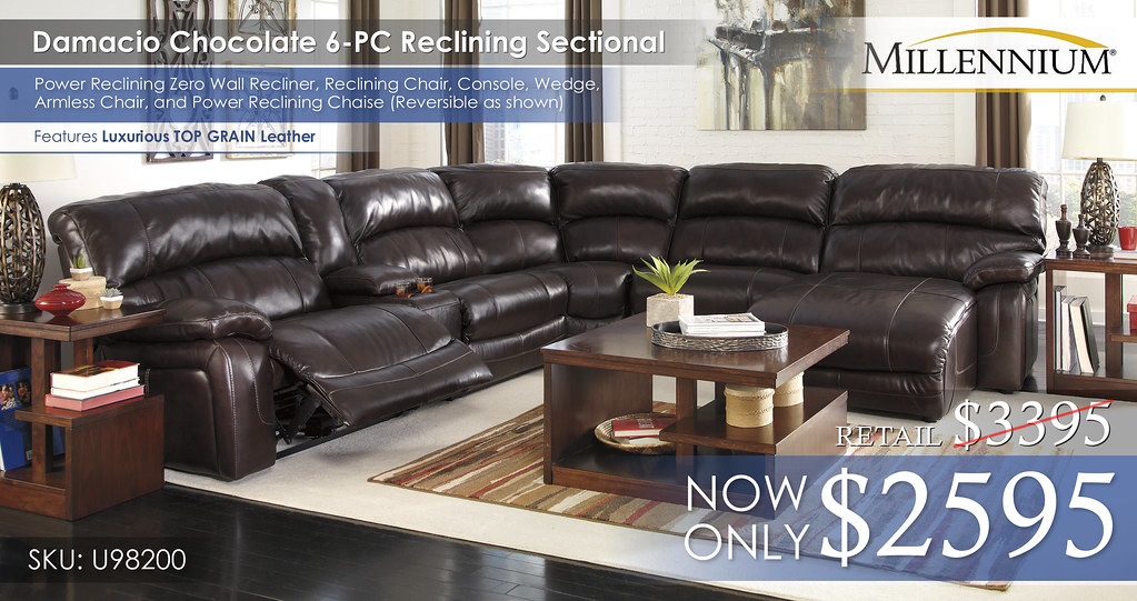 Damacio Chocolate 6PC Sectional U98200