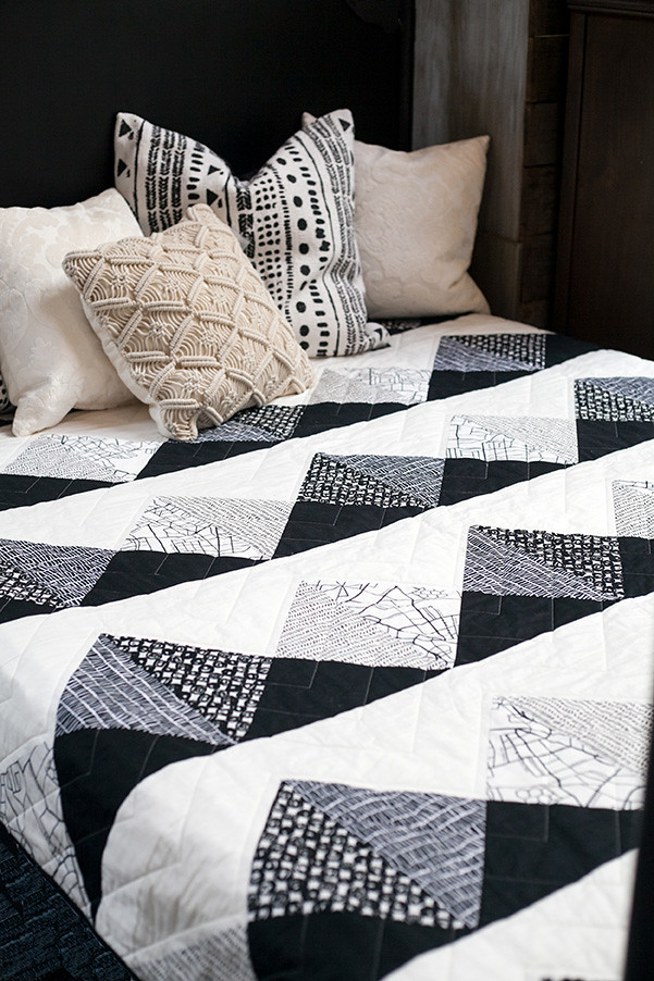 Mountain Call Quilt on Bed