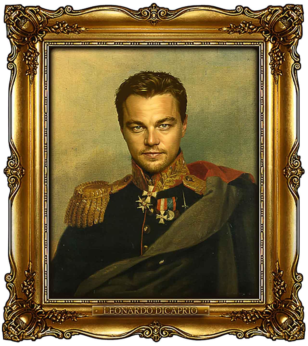 Artist Turns Famous Actors Into Russian Generals - Leonardo Dicaprio