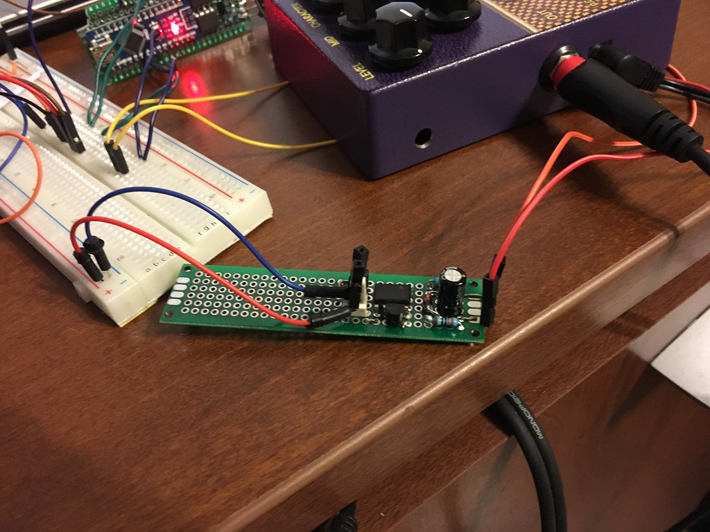 Write Up Adding Midi Control To A Guitar Effects Pedal Rc Car Circuit Exposed Flickr Photo Sharing Essentially This Power Supply Steps The Voltage Down From 9v 5v By Shifting Positive Side 2v And Also Negative