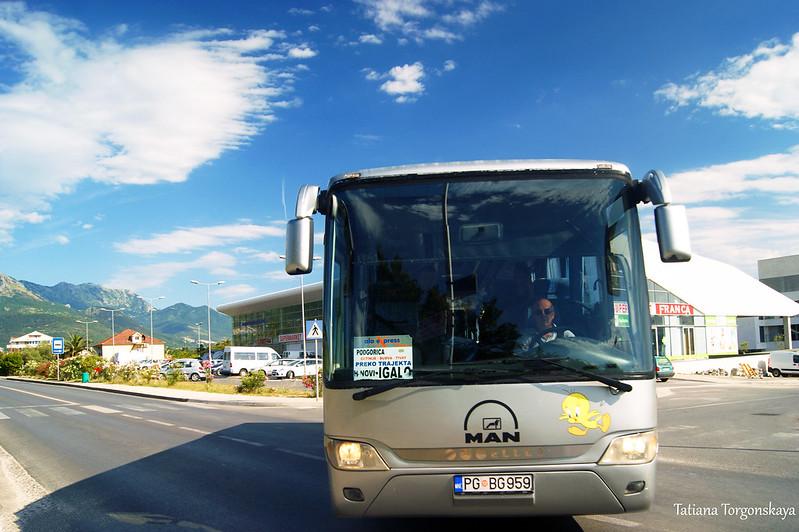 """Междугородний автобус """"Podgorica - Igalo"""""""