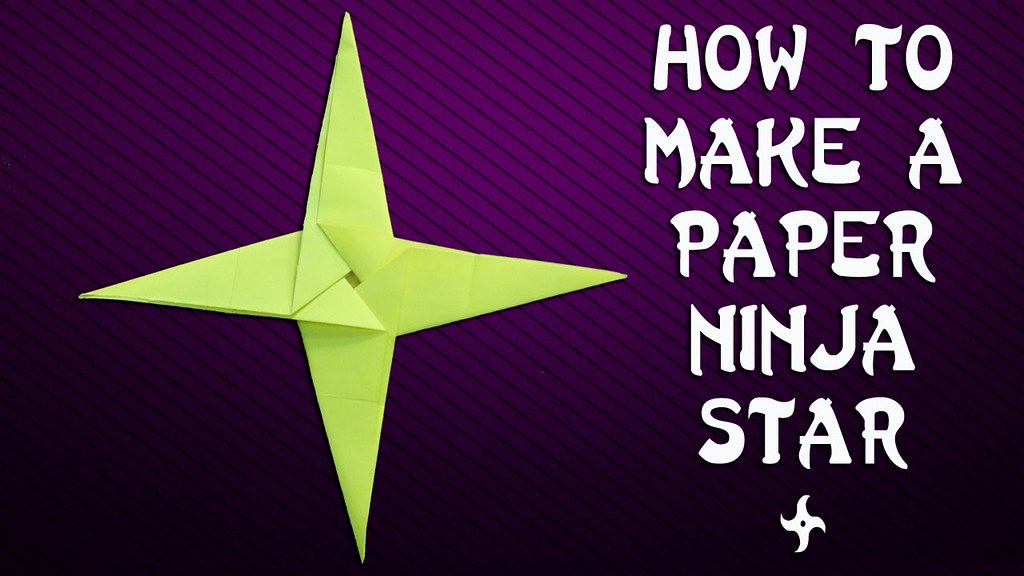 How To Make A Paper Ninja Star Shuriken How To Make Pape Flickr