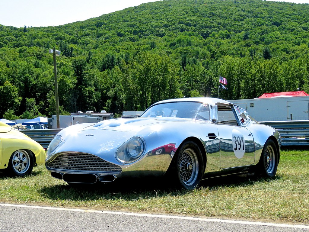 chrome aston martin db4 gt zagato at lime rock mind over motor