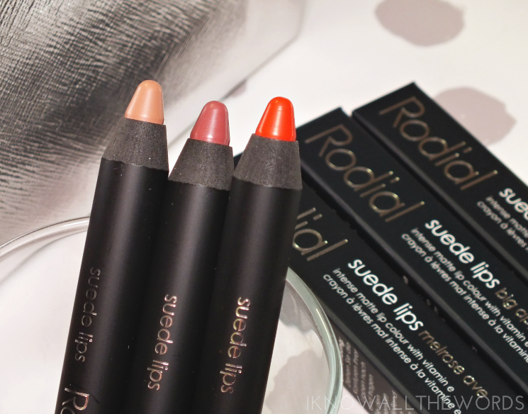rodial suede lips melrose ave, big apple, and rodeo drive (2)