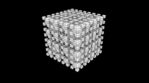 Mitsuba 3D Cellular Automata render