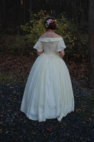 The Fashionable Past: An 1860s Wool Gauze Ball Gown