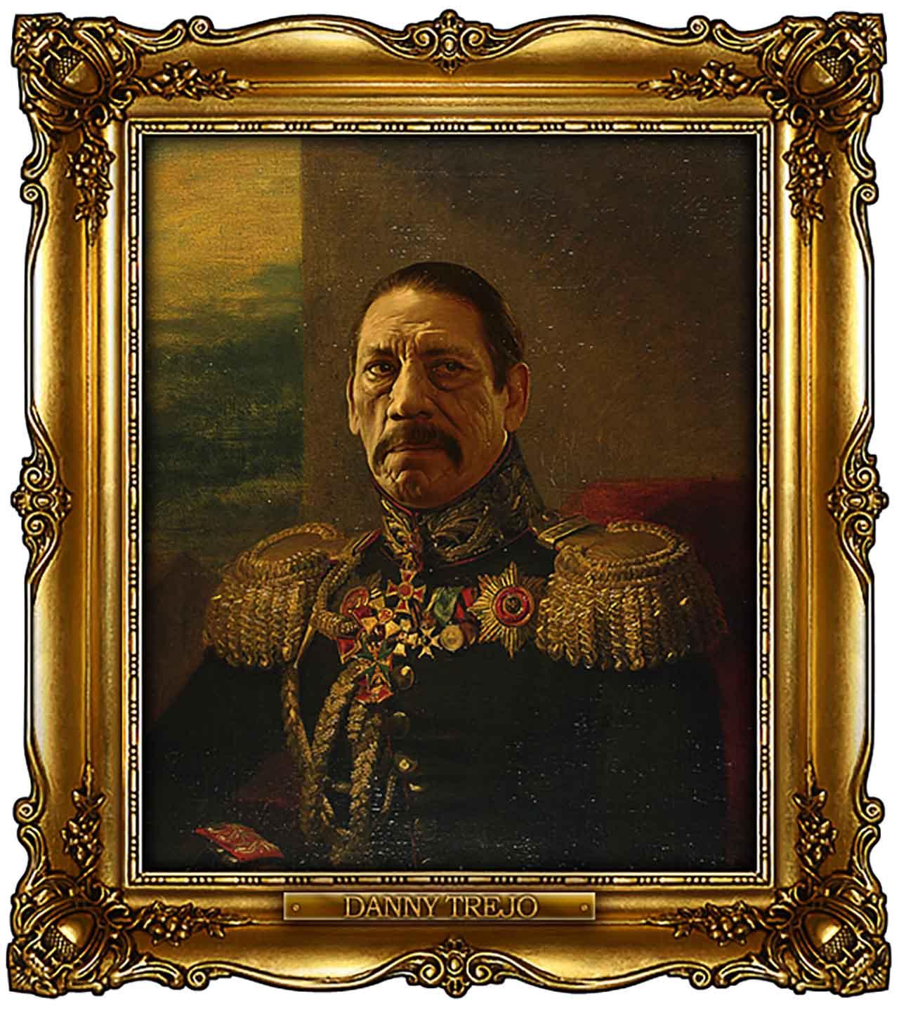 Artist Turns Famous Actors Into Russian Generals - Danny Trejo